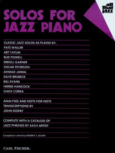 ATJ305 - Solos for Jazz Piano (All That Jazz Series)