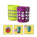 Tommee Tippee No Knock Transition Toddler Cup with Clevergrip base, Cat & Fox, 12+ Months