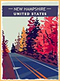 A SLICE IN TIME New Hampshire United States Autumn Retro Travel Home Collectible Wall Decor Advertisement Art Poster Print. 10 x 13.5 inches