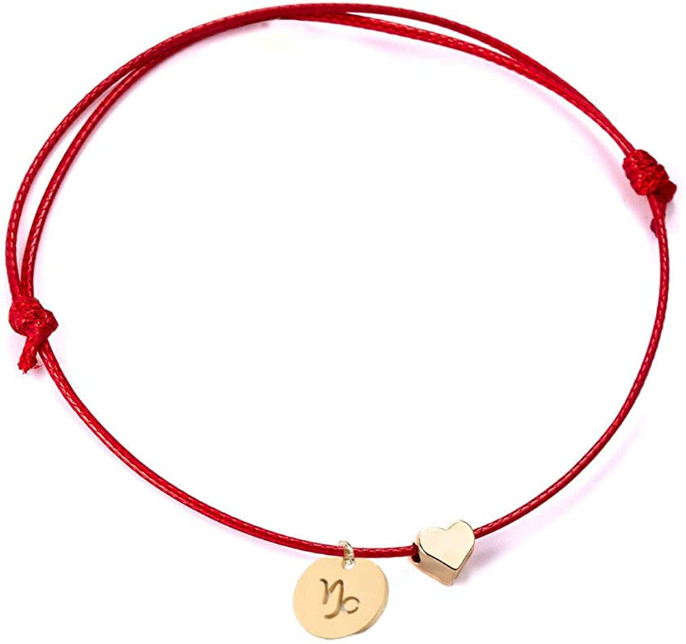 Reservation Ailiessy Love Heart Constellation Bracelet for Handmade Br Women Tampa Mall