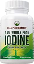 Raw Whole Food Iodine from Organic Kelp (Ascophyllum Nodosum) by Peak Performance. Thyroid Support Supplement. Great Metab...