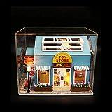 lā Vestmon DIY Dollhouse Build Kit en Miniatura de casa en Miniatura con luz LED Casa de muñecas de Madera en Miniatura con Muebles de Regalo para niñas