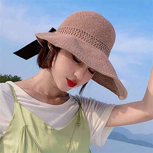 Visera Sombrero De Copa,Mujer Tiene Verano Sombrero para El Sol Viaje Anti-UV...