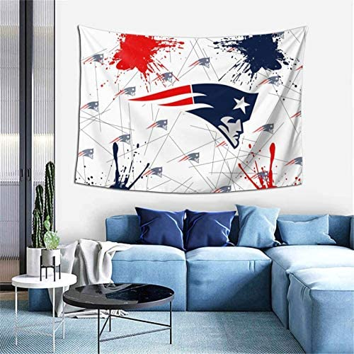 New England Patriots Football Logo Tapestry Wall Hanging for Living Room Bedroom Dorm Decor product image