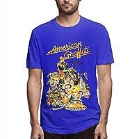 Summer Custom Made Cartoon Short Sleeve T-Shirt Blue L