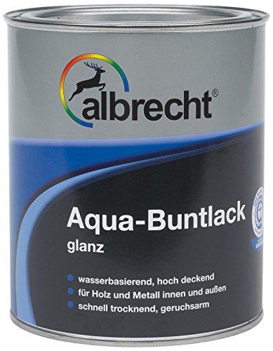 Lackfabrik J. Albrecht GmbH & Co. KG 3400505900703500375 Aqua-Buntlack glanz 375ml, RAL 7035 grau