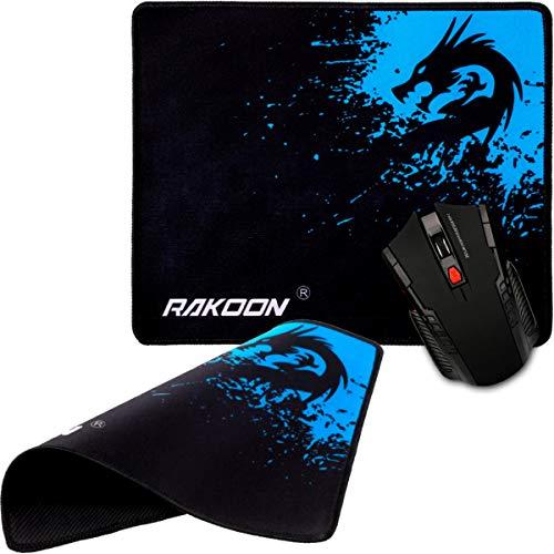 RAKOON Gaming Office muismat neopreen pad antislip, zachte matte draak blauw