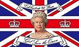 Queen Elizabeth II - 90th Birthday 21st April 2016 5'x3' Flag by 1000 Flags