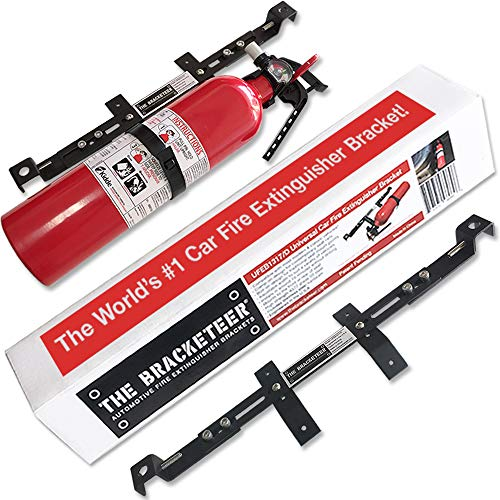 Car Fire Extinguisher Bracket | Universal Design Fits Most Vehicles | Over 16,000 Sold!