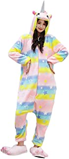 Adulto e Bambino Unisex Unicorno Tigre Leone Volpe Tutina Animale Cosplay Pigiama Costume di Carnevale di Halloween Fancy ...