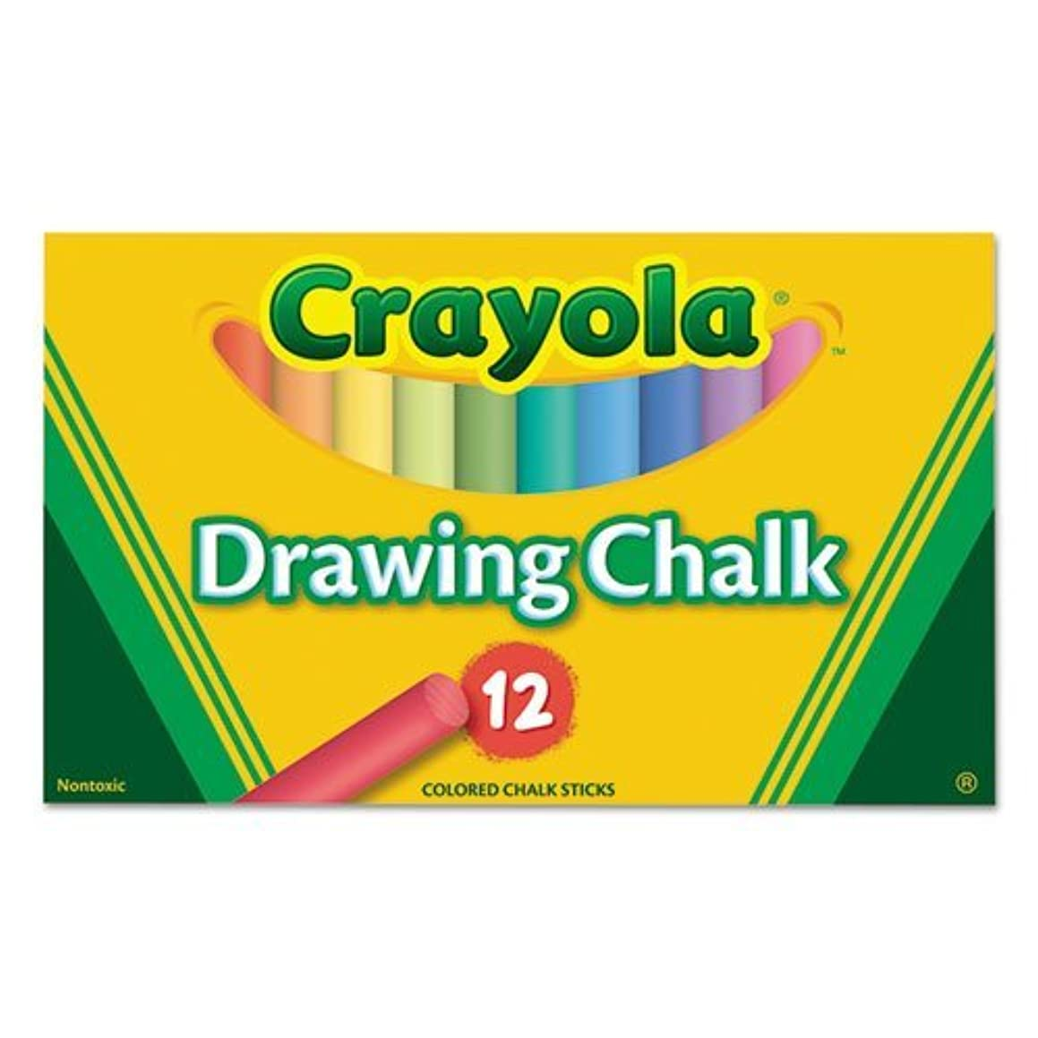 Colored Drawing Chalk, 12 Assorted Colors 12 Sticks/Set
