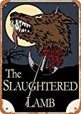 Oulili Vintage Metal Sign The Slaughtered Lamb Minimalist Movie Illustrations - 8 x 12 Inches Tin Sign for Home Bar Pub Garage Decor Gifts