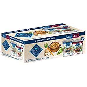 Blue Buffalo Blue's Stew Natural Adult Wet Dog Food Variety Pack, Chicken Stew & Beef Stew 12.5-Oz Can (8 Count- 4 of Each Flavor)