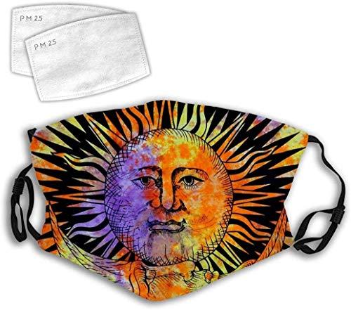 Bexin-U Sonne, Mond, abstrakte Kunst, buntes Gesicht, Stern, 3D-Design, modisch, bequem, verstellbar, Gesichtsdekorationen
