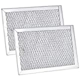 (2 Pack) WB06X10309 Filters Microwave Grease Filters- Compatible with GE Microwave Oven Replace Filters WB6X10309, PS228019, AP3668752 by Fetechmate