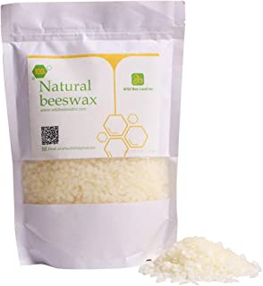 MQ Organic Beeswax Pellets Premium Natural Pure Bees Wax - No Toxic Pesticides or Chemicals - Cosmetic Grade Triple Filtered Beeswax For DIY Candles/Lip Balm/Skin Care - 445g/1b (White)