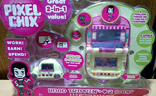 Pixel Chix Road Trippin' + Love 2 Shop (1-in-one Set) by Mattel