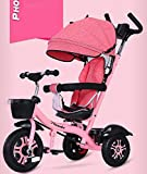 Aocean Tricycle,Triciclos Bebes Evolutivo Infantil 4 en 1 Bi