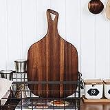 MEICHENG-DZ Erfrischendes Black Walnut Handgefertigte Holzschneidebrett aus massivem Holz Ganzes Holzschneidebrett Brotbackblech Kochen Werkzeuge einfach