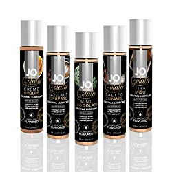 commercial System JoH2O Taste Lubricant Collection – 5 Gelato Aromas – Creme Brulee, Hazelnut Espresso,… system jo lube