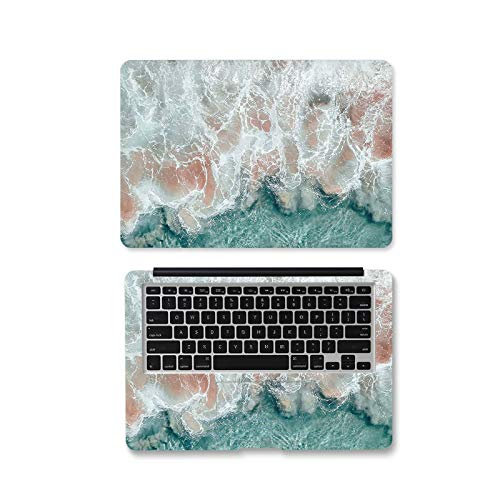 Peach-Girl Case for Lenovo/Dell/HP/AUS/Xiaomi Air 13.3/Macbook, Marble Sea Wave Sticker for Laptop 12 13 14 15.6 17 Inch-Jd-458-14