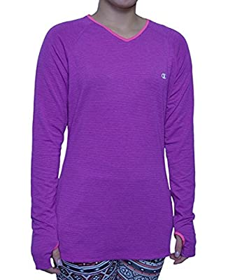 Champion Women's Active Athletic Shirt Long Sleeve Thumnhole