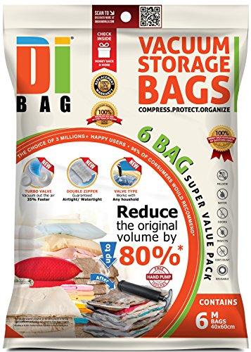 DIBAG ® 6 Space Saver Vacuum Storage Bags - Premium Travel...