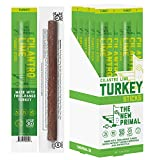 The New Primal Cilantro Lime Turkey Meat Stick, Whole30 Approved, Paleo, Keto, Pantry Staple, Certified Gluten Free, Low Carb, High Protein Snack, Sugar Free, Grass-Fed and Finished, 1 oz, Pack of 20