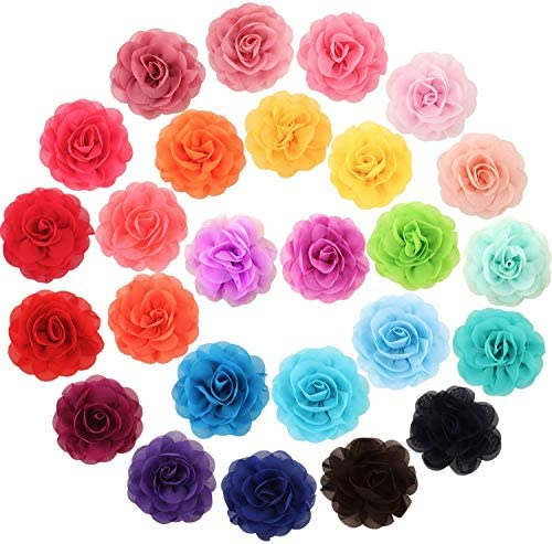 WILLBOND 26 Pieces Pet Collar Flowers Multi Color Dog Charms Flower 5 cm Pet Flower Bow Tie product image