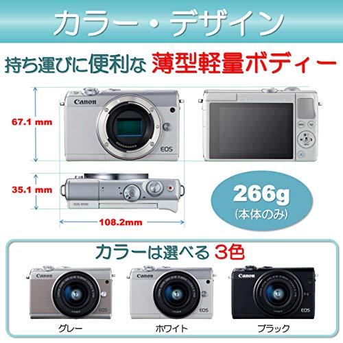 Canonミラーレス一眼カメラEOSM100EF-M15-45ISSTMレンズキット(ブラック)EOSM100BK1545ISSTMLK