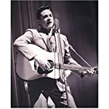 johnny cash guitar pic - Johnny Cash 8 inch x10 inch Photo Singer B&W Ring of Fire Playing Guitar & Singing at Mic Curtain in Background kn