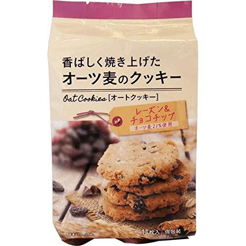 オーツ麦のクッキーレーズン&チョコチップ 11枚 ×12個