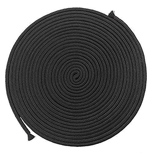 Baumwollseil, 1 Packung 32 Fuß 10 m, schwarzes weiches Seil, Mehrzweckseil, waschbar, stark, multifunktional, langer Gurt, schwarz