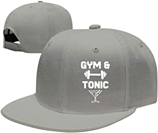 UdlJud Gym and Tonic Workout Drinking Funny Casual Baseball Cap Adjustable Mesh Hats Trucker Cap for Men Women