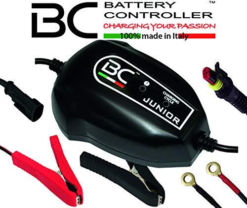 BC Battery Controller BC JUNIOR 900, Intelligentes Batterieladegerät und Erhaltungsladegerät für alle 12V Blei-Säure Autobatterien und Motorradbatterien, 1 Amp