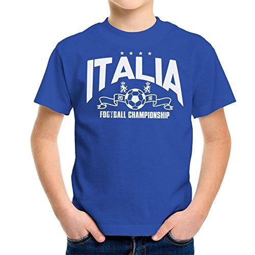 Euro 2016 Football Italy Italia Stars Blue Kid's T-Shirt