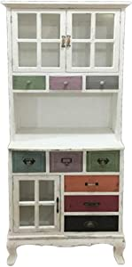 Gicos Mobile credenza con cassetti Multicolore Arredamento casa Vintage ntw17036