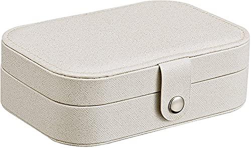 Caja de joyería, Pendientes, Anillo, Caja de Almacenamiento de joyería, Pendiente, Regalos para Mujeres, Blanco (Color : Earrings)