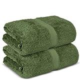 Chakir Turkish Linens Hotel & Spa Quality, Premium Cotton Turkish Towels (35''x70'' Jumbo Bath Towels - Moss)