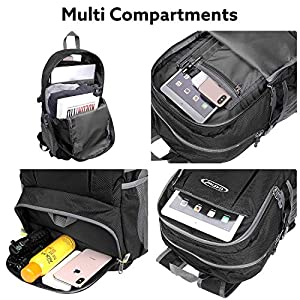 G4Free 40L Lightweight Packable Hiking Backpack with Wet Pocket, Wateproof Handy Foldable Camping Outdoor Travel Daypack