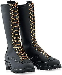 """Wesco Voltfoe 16"""" Black Work Boots - Composite Toe 109 Vibram Sole (8.5 D US Men, Black)"""