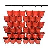 Worth Garden SELF Watering Indoor/Outdoor Vertical Wall Hangers Pots...