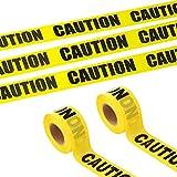 YMDZ 2 Rotoli di Nastro di Avvertenza Nastro di Sicurezza OPP Nastro di Avvertimento Giallo e Nero, Nastro di Avvertenza di Sicurezza per Cantieri Pericolosi 48 mm x 25 m