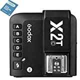 Godox X2T-C TTL Wireless Flash Trigger 1/8000s High-Speed Sync,5 Separate Group Buttons, and 3 Function Buttons New Hotshoe Locking, New AF Assist Light to Realize Quick Setting for Canon Cameras