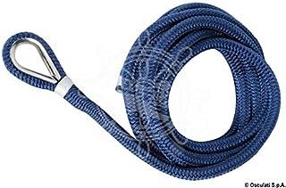 Osculati Polyester Festmacherleine mit Kausch - blau