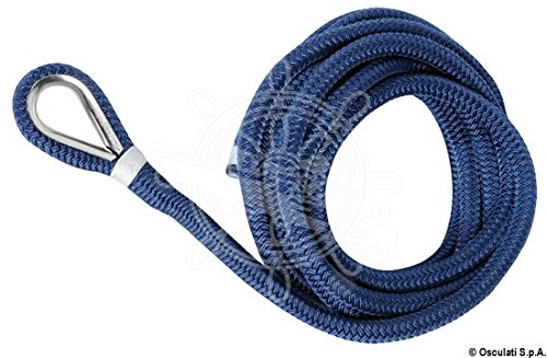 OSCULATI Cima ormeggio impiombata 10 mm x 6 m Blu
