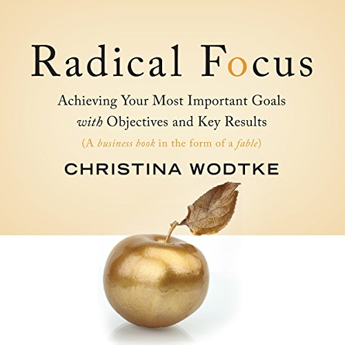 Radical Focus     Achieving Your Most Important Goals with Objectives and Key Results              Written by:                                                                                                                                 Christina R. Wodtke                               Narrated by:                                                                                                                                 Samantha Desz                      Length: 3 hrs and 37 mins     2 ratings     Overall 3.5