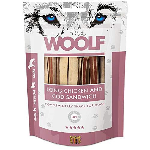 Woolf Long Snack Sandwich Poulet et Morue 100gr