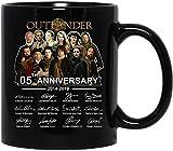 NA #Outlander Reparto Completo Firmado Quinto Aniversario 2014-2019 película película cerámica Tazas de café Tazas