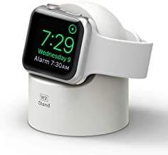 elago W2 Charger Stand Compatible with Apple Watch Series 6/SE/5/4/3/2/1(44mm, 42mm, 40mm, 38mm), Durable Silicone, Works ...
